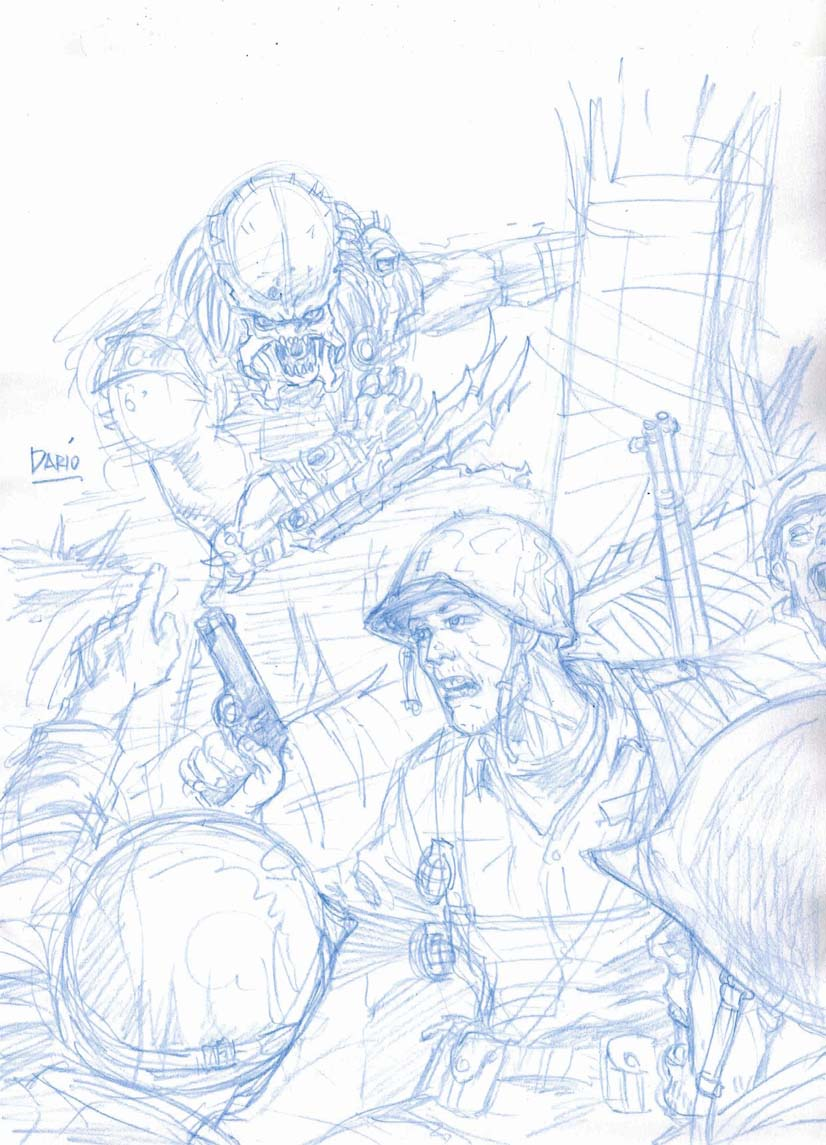 Predator in pacific war sketch digital webbing forums